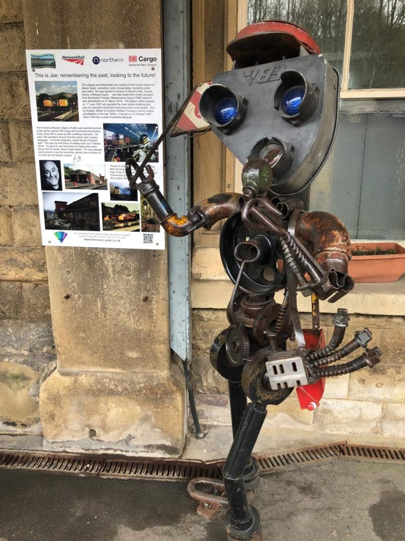 Buxton Bimble - Joe at Buxton Station